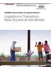 CSCMP State of Logistics Report 2016