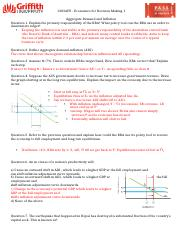 Vinnie - Economics PASS sheet Aggregate demand and inflation Answers