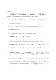 Test 3b Solutions (Fall 2010)