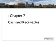 ASIS3115 Chapter 7 Cash and Receivables
