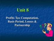 08  Profit computation Basis period losses & Partnership 2014