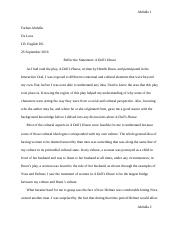 Reflection Paper for A Doll's House.docx