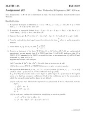 MATH135 - Assignment2 Solutions