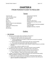 Chapter 6 Lecture on Romanticism to Realism