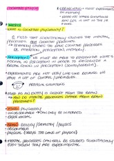 Lecture Notes/Intro to Cognitive Pyschology