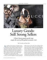 Week 3-Luxury Goods Still Strong Sellers
