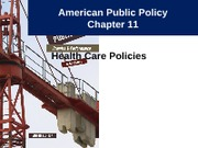 Notes 13 - Health Care Policies Part 1