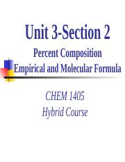 CHEM_1405_Hybrid_Unit_3_Section2_EmpiricalMolecularFormula.ppt