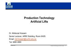 Production Technology-ArtificialLifts-GasLift(2)