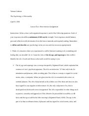Introduction to Personality Assignment 2.docx
