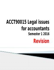 Legal Issues- Revision sem 1 2016