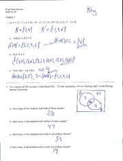 Set Theory Exam and Answers