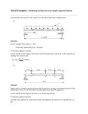 2. Lecture 2 Reaction force tutorial and solutions.docx