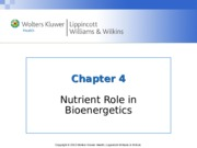 Nutrition Chapter_04  lecture notes