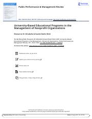 University Based Educational Programs in the Management of Nonprofit Organizations.pdf