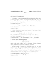 Sample Midterm 1 Solutions Winter 2011