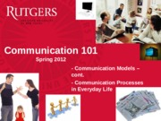 Class 5 - Communication Models and Practices