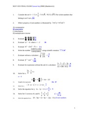 final exam practice 20082 with answer key