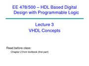EE 478 Lecture 4