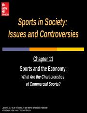 Chapter 11 sport and the economy