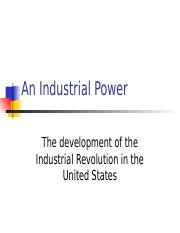 The Industrial Revolution STB
