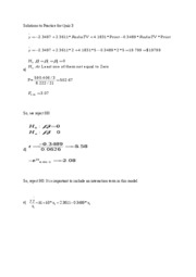 Solutions to Practice for Quiz 3