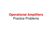 Operational Amplifiers - Practice Problems
