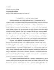 Essay 3 Sub Saharan Africa and South Asia
