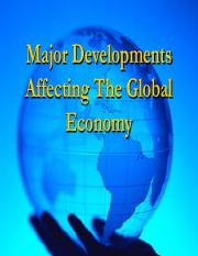 BB - Lecture 4 - MAJOR GLOBAL DEVELOPMENTS