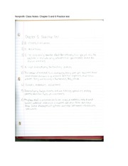 Nonprofit- Class Notes- Chapter 5 and 6 Practice test