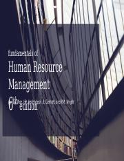 Chapter 1 - Managing HR