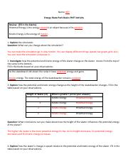 3.2.2015 Energy skate park answers.pdf - Name KEY Energy ...