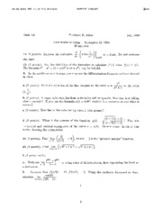 Math 1A - Fall 1993 - Ribet - Midterm1, 2, and Final