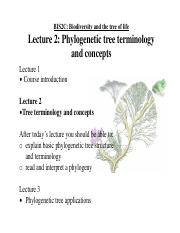 Lecture Goliber on Tree Concepts
