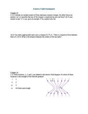 Electric Field Homework