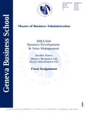 MBA 604 - Final assingment - Sales Sevelopment- Muneer Mohamed and ryan - Jeddah.docx.doc