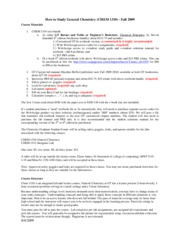 CHEM 1310 Course Materials and How to study CHEM 1310 Fall 2009v5