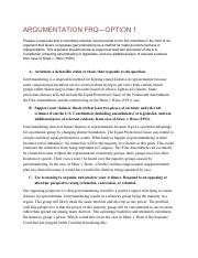 3 02 Frq Ap Government Pdf Argumentation Frqoption 1 Prepare A Response That A Committee Member Would Provide To The Full Committee In The Form Of An Course Hero