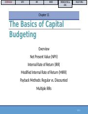 Chapter 11 - Capital Budgeting Tools.pptx