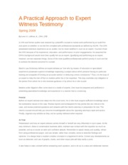 Article Practical Approach Expert Witness