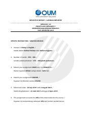 Kesihatan Rr Docx Reflective Report Laporan Reflektif Mpu3313 V2 Health And Wellness 2 Kesihatan Dan Kesejahteraan 2 May Semester 2019 Specific Course Hero