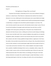 Assignment 1 The Significance of Change Essay
