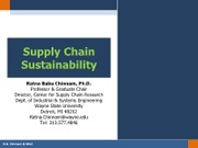 Chapter 18.2 - Green Supply Chains - Dr. Chinnam