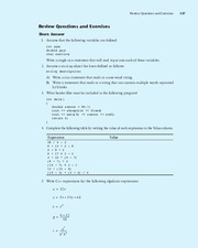 Review Questions and Exercises - Ch. 3