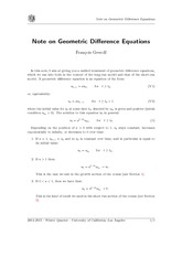 note-on-difference-equations