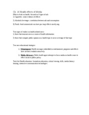 com 275 lecture notes Ch. 16 health effects of media