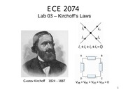ECE 2074 Kirchoff Voltage and Current Law Notes