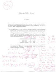 Math45476547Quiz6Solutions