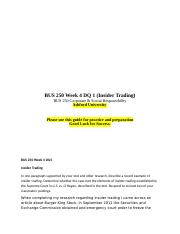 BUS 250 Week 4 DQ 1 (Insider Trading).doc