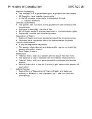 principles of constitution notes